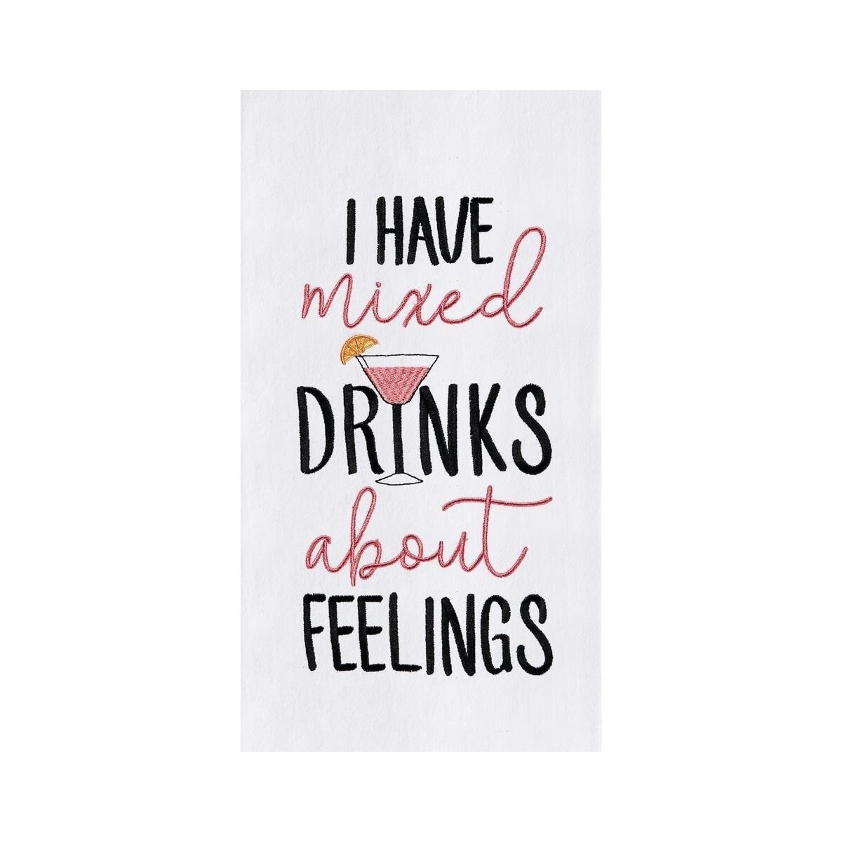 Mixed Drinks & Feelings Dish Towel