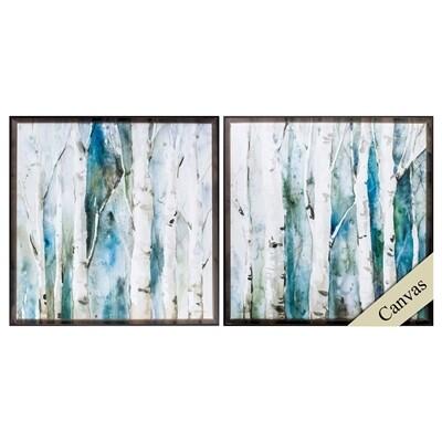 River Birch Framed Canvas Wall Art