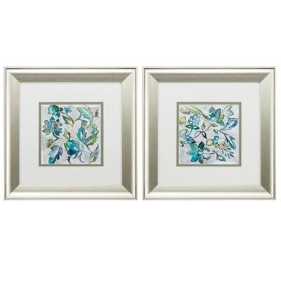 Sapphire Vine Framed Wall Art