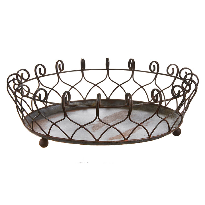 "16"" Distressed Basket"