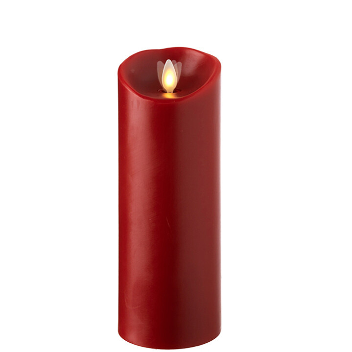 "3""x8"" Red LED Pillar Candle"