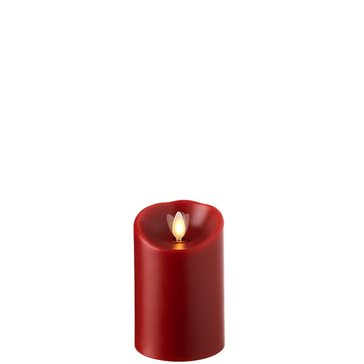 """3.5""""x5"""" Red LED Pillar Candle"""