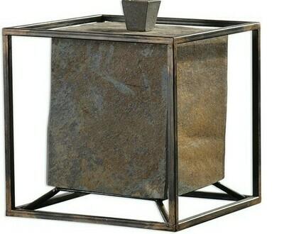 Slate Cube Box Lg