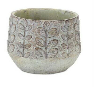 Leaf Cement Pot Sm.