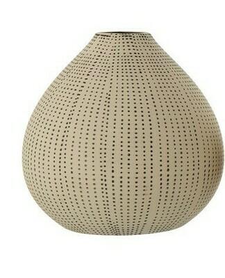 Stoneware Textured Vase Med