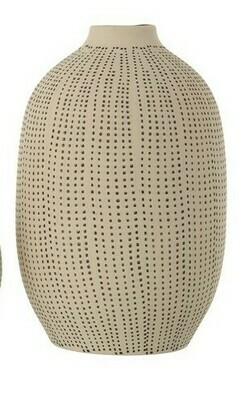 Stoneware Textured Vase Lg