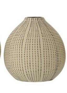 Stoneware Textured Vase Sm