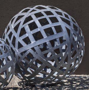 Garden Sphere Large Zinc