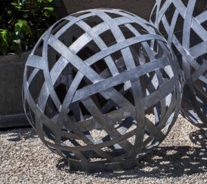 Garden Sphere zinc small
