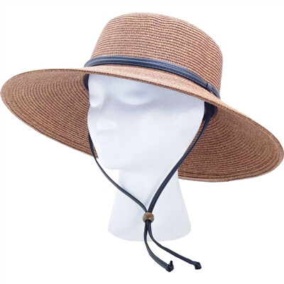 Hat Woman's Wide Brim dark brown
