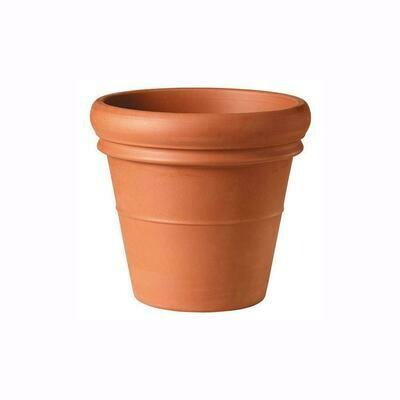"""Terra Cotta Clay Pot 22"""" Heavy Rim"""