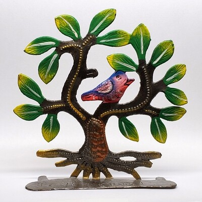 Painted Tree w/ Bird 4.5