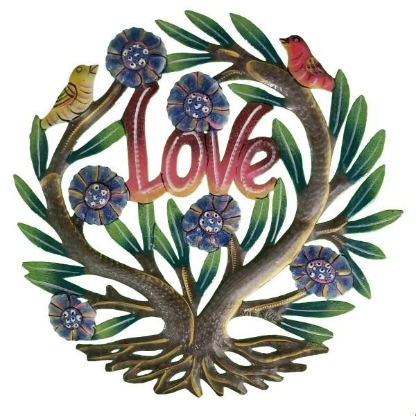 """Painted Love Tree 12"""""""