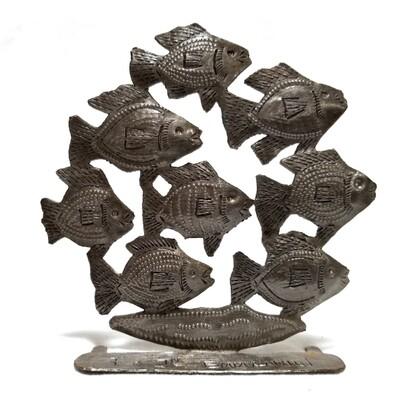 Freestanding Tropical School of Fish 4.5