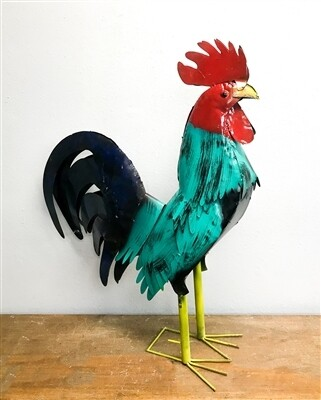Rooster Turquoise & Blue