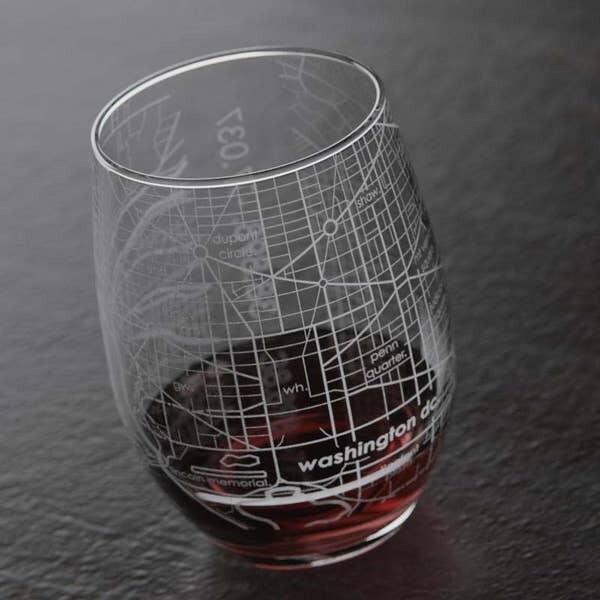 Maps stemless wine glass - DC