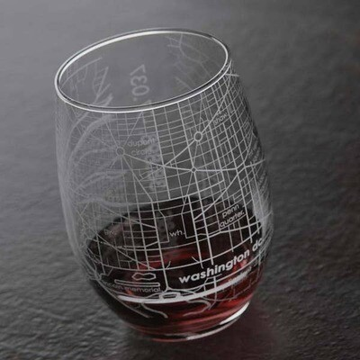 Maps stemless wine glass - DC