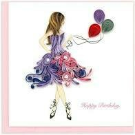 Quilling Cards - Birthday Girl
