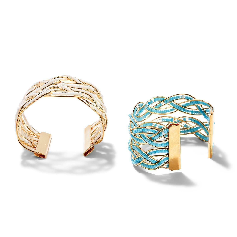 2C Beaded Cuff Bracelet