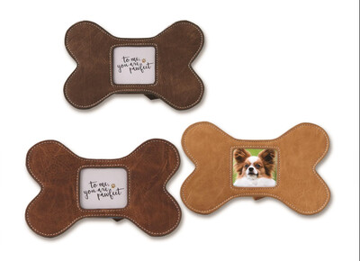Leather Dog Bone Frame