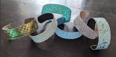 Fish Leather Bracelet - Narrow