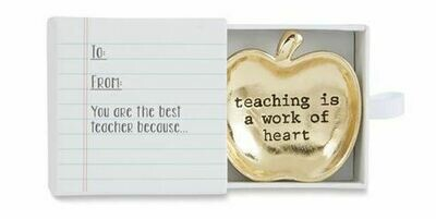 Teacher mini trinket tray - teaching