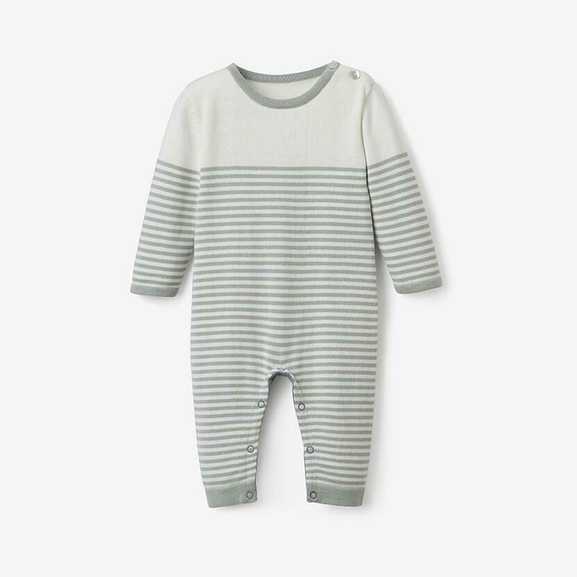EB Mini Stripe Knit Jumpsuit Sage