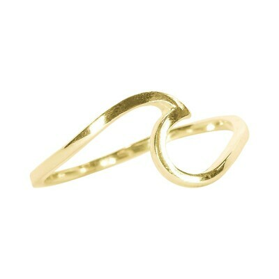 Pura Vida Wave Rings - size 6 gold