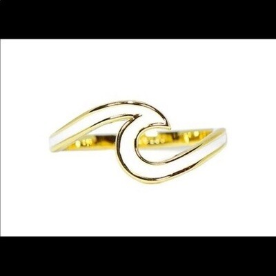 PV Wave Rings - 6 gold/white