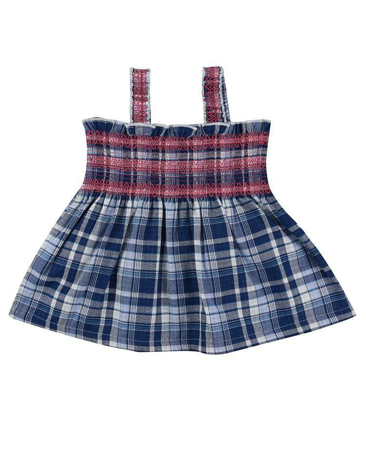 LS Reversible Check Sundress