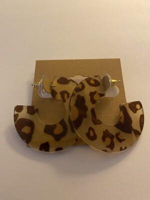 Cheeta Tort Hoops