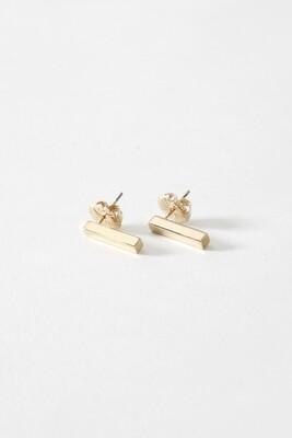 SecondDaughter Gold Vert. Bar Earring - Small