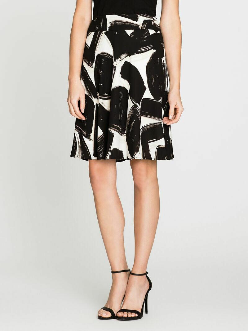 Nic + Zoe Black/Khaki Skirt - 10