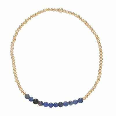 eNew gold bliss 2mm bead sodalite