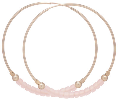eNew flirty endless gold hoops - rose