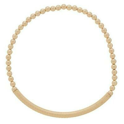 eNew bliss bar textured bracelet gold beads
