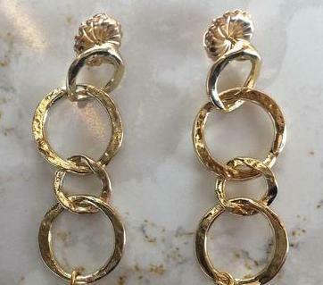 SD Gold Links Earrings