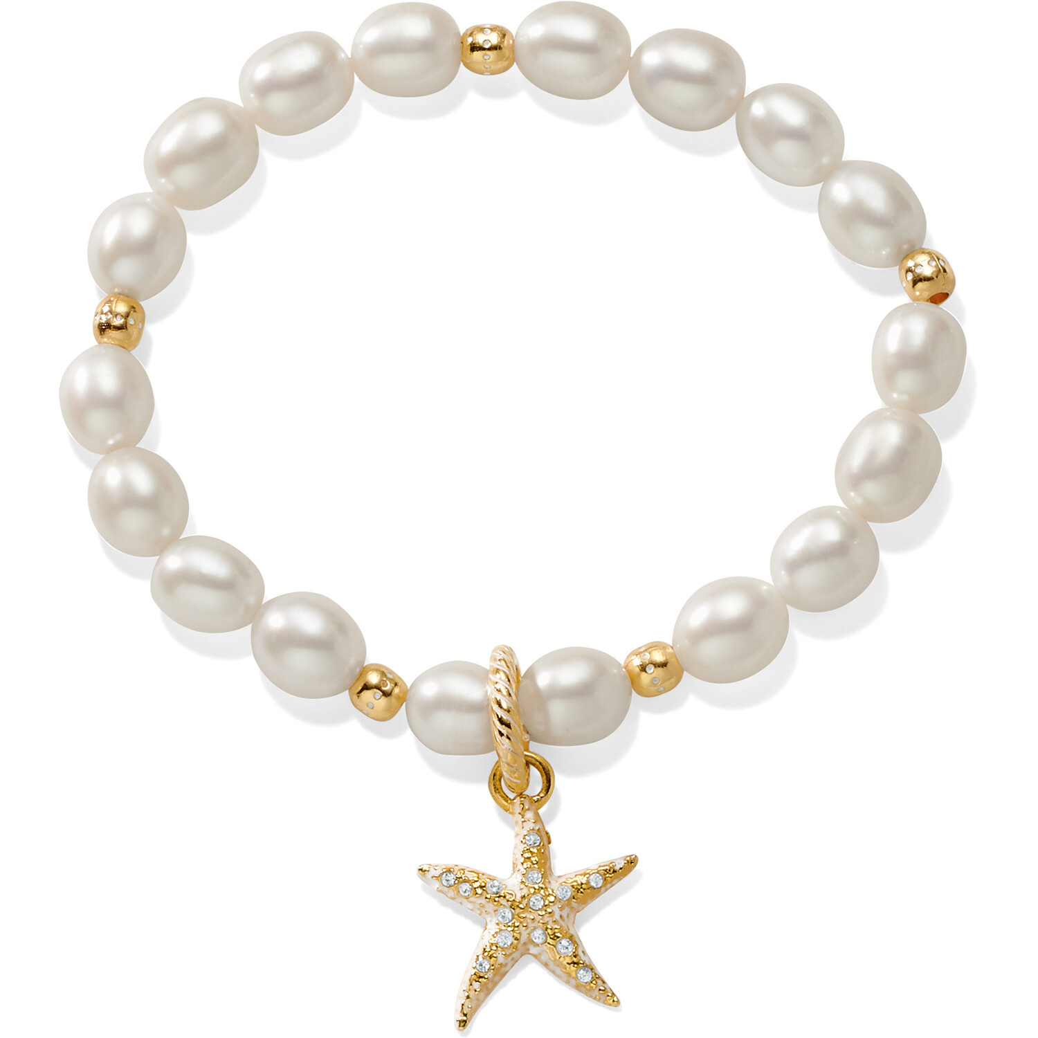 Brighton Sea Shore Pearl Starfish Stretch bracelet