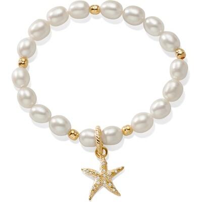 Brighton Sea Shore Pearl Starfish Stretch bracelet