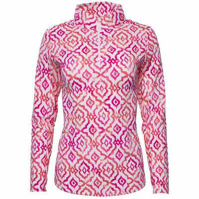 Ibkul Hollie L/S Mock Pink/Coral - XS