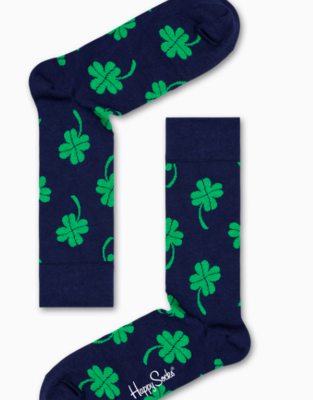HS Men's combed cotton socks - clover & horseshoe