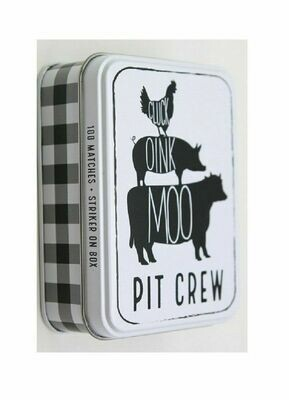 Tin Matchbox set - animals