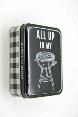 Tin Matchbox set - grill