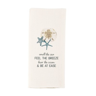 Watercolor Shell Towel - sea
