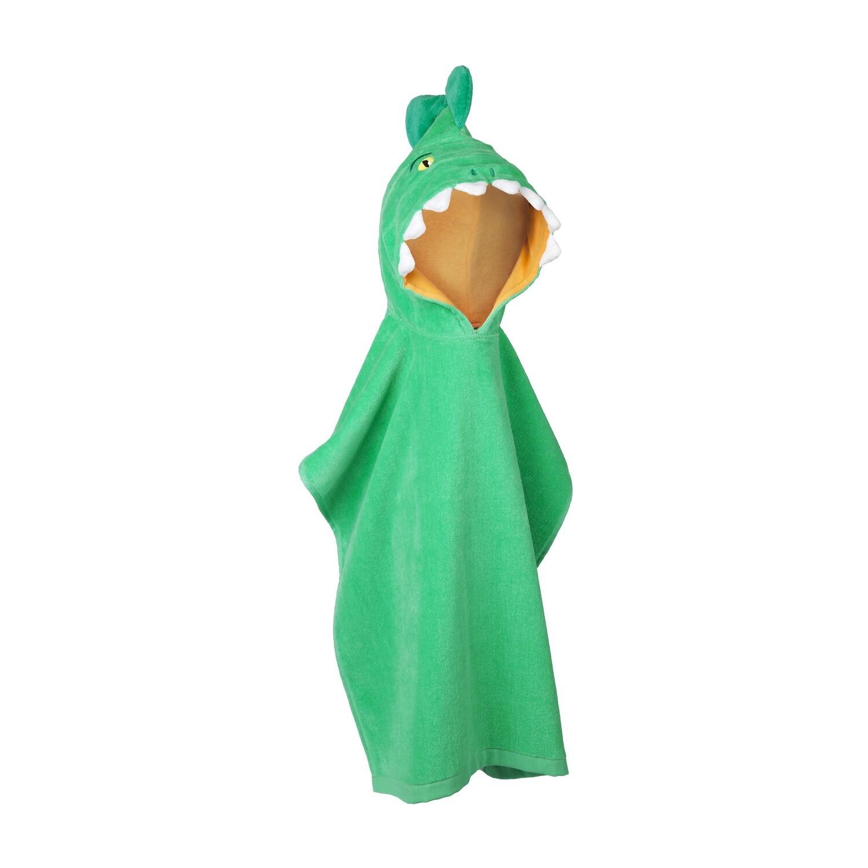 Kids Hooded Beach Towel - Crocodile