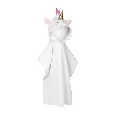 SL kids hooded beach towel - unicorn