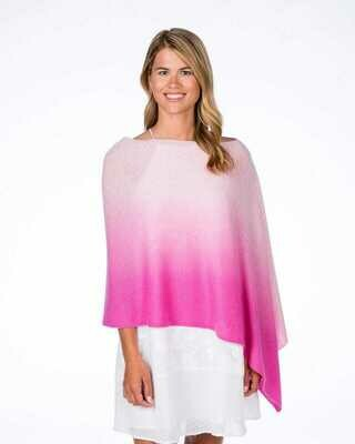 Cashmere Ombre Poncho  - pink
