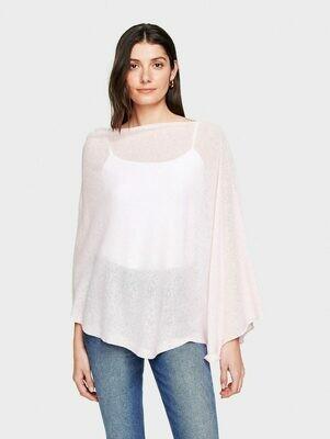 WW Cotton/Linen Poncho - Pink Sand