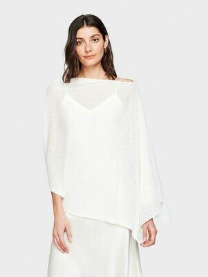 WW Cotton/Linen Poncho - White