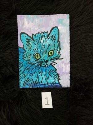 Cat Monoprint:  of Portrait of a Kitten  Kym Moreland- Garnett